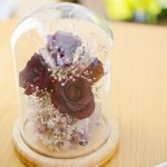 ブーケのお花のフラワードーム(ランプ付)