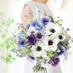 ブルーパープルアネモネブーケ (造花)