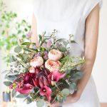プロテアとラナンキュラスのボルドーブーケ (造花)