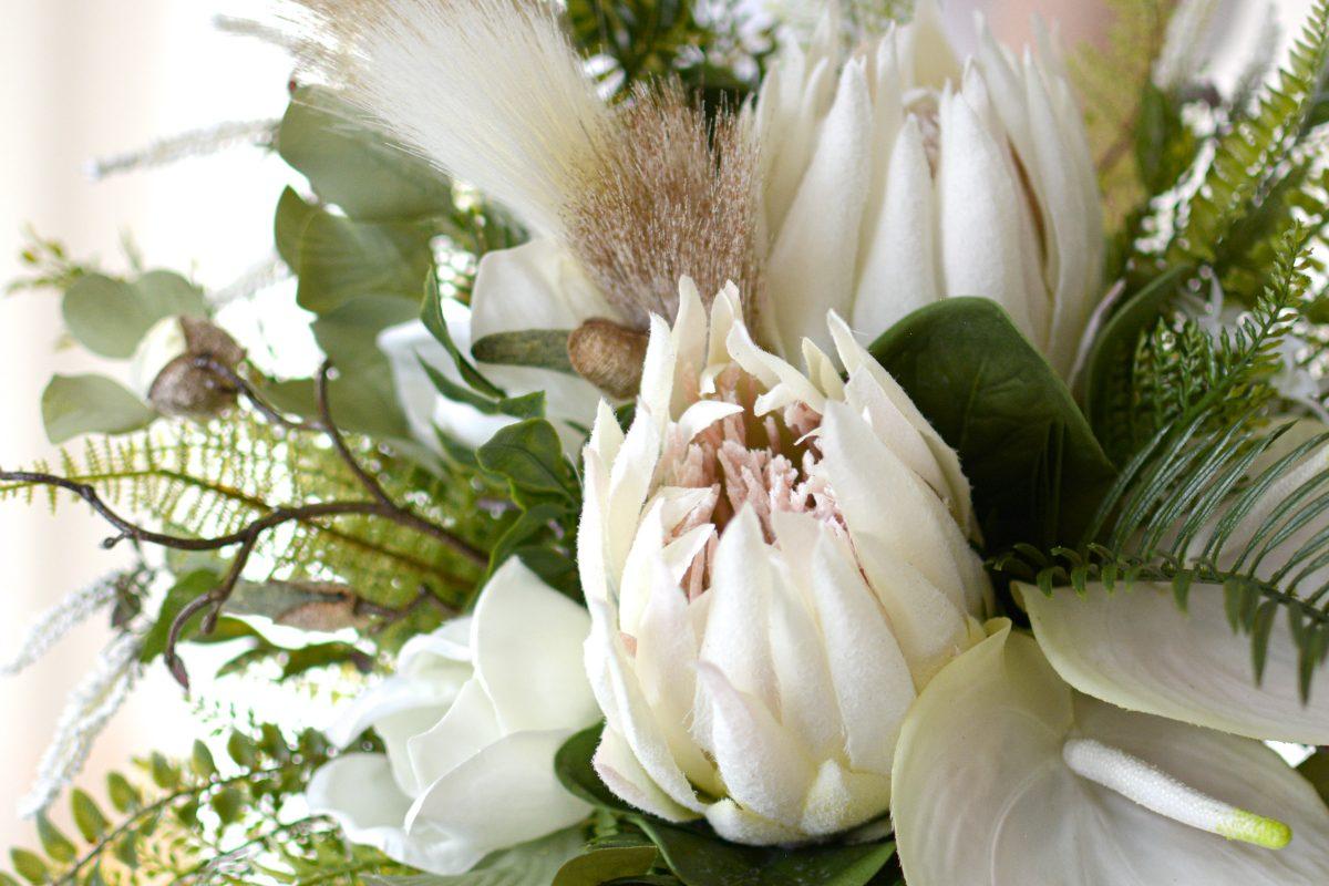 プロテアブーケ、造花とわかるかどうか