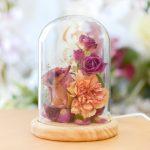 ブーケのお花のフラワードームランプ